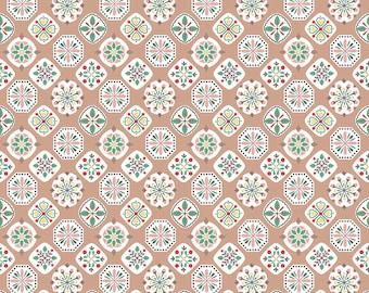 "Lori Holt Stitch Fabric by Riley Blake - Tan ""Applique"" Fabric by the 1/2 Yard or Fat Quarter"
