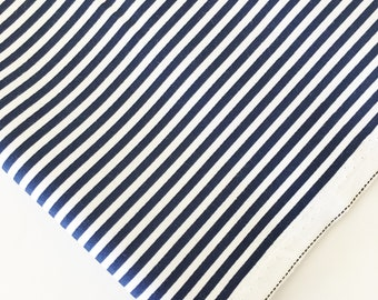 """1/8"""" Navy Stripe Fabric - Riley Blake Stripes - Navy and White Striped Fabric By The 1/2 Yard"""