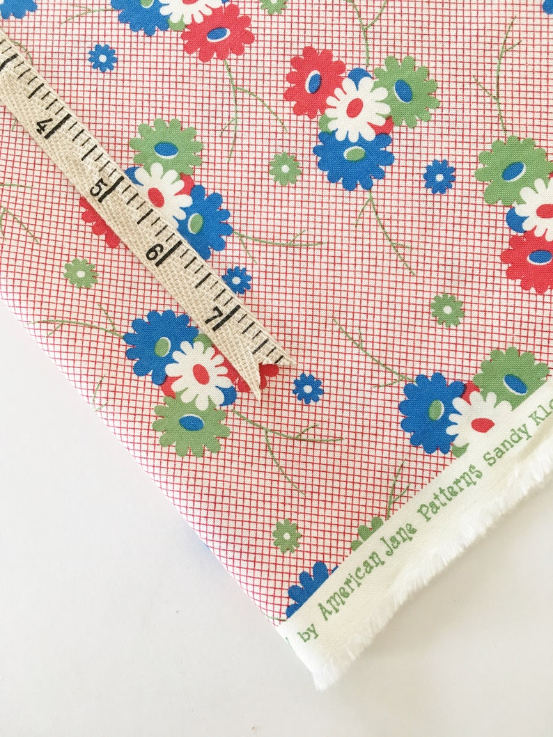 Sweet Harmony Fabric by American Jane and Moda  Daisy Dot Red image 0