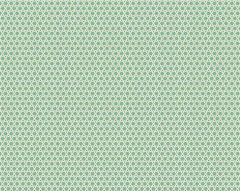 Lori Holt Stitch Fabric by Riley Blake - Leaf Green Hexie Fabric by the 1/2 Yard or Fat Quarter