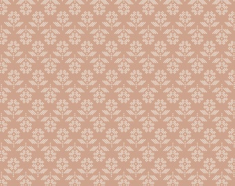 Lori Holt Stitch Fabric by Riley Blake - Tan Stitched Flower Fabric by the 1/2 Yard or Fat Quarter