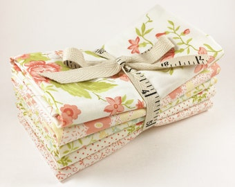 Ella and Ollie Fabric Fat Quarter Bundle - Fig Tree Cream Fabric Bundle - Moda Fabric - Fig Tree Fabric - 5pc