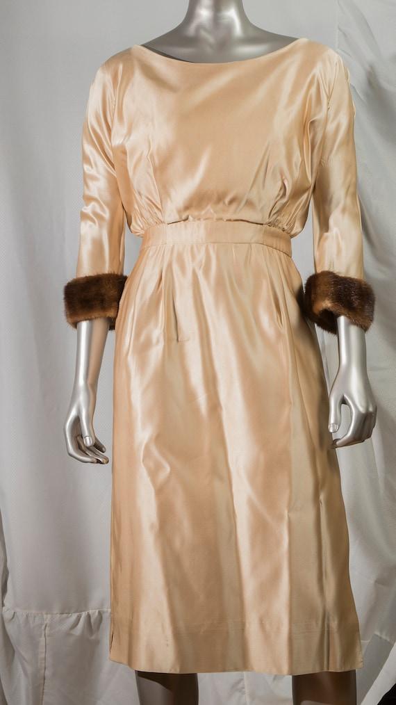 elegant vintage cocktail dress 1960s - image 1