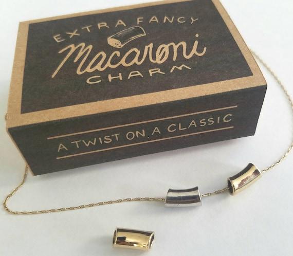 Gluten Free Ditalini Pasta Charm. Nostalgic jewelry. Carbs ...