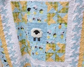 Lewe The Ewe Baby Quilt Quiltsy Challenge Sheep Toddler blanket