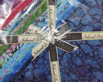 Island Batik Midnight Dazzle 10 in square Stack