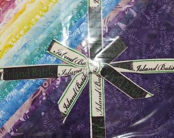 """Island Batik Floral Wonders 10"""" Squares Stack Layer Cake"""