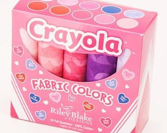 Crayola Valentine Fat Quarter Box Riley Blake