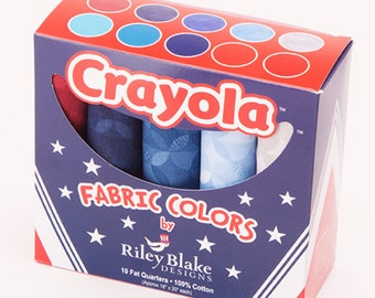 Crayola 4th of July Fat Quarter Box Riley Blake Red White Blue