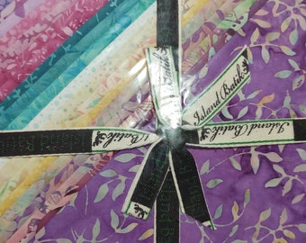 """Island Batik Butterfly Blooms 10"""" Squares Stack Layer Cake"""