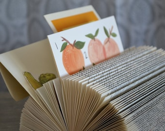 The Organizer - Reader's Digest Condensed Books - Folded Book Art - Recycled, Repurposed, Reclaimed - Home, Office, Mail Organization