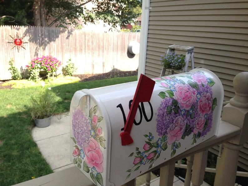 Custom ordered hand painted mailbox