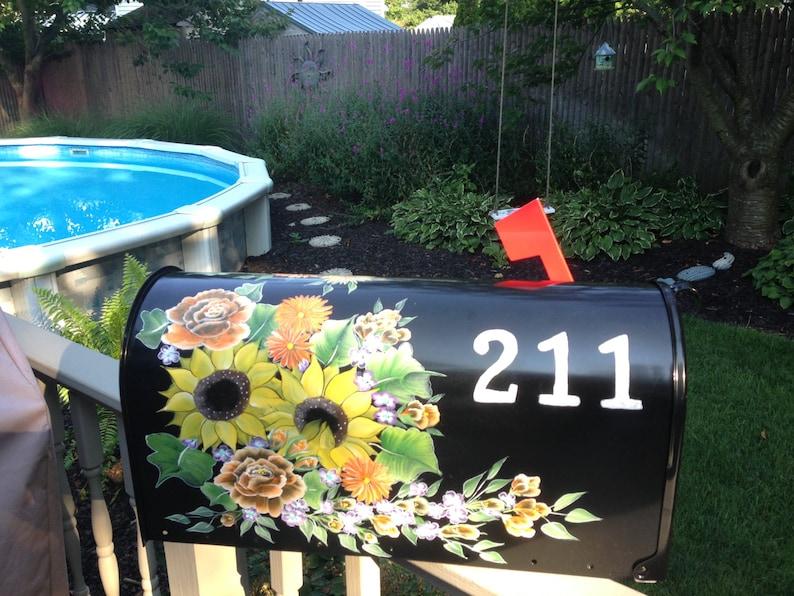 Mailbox hand painted custom ordered