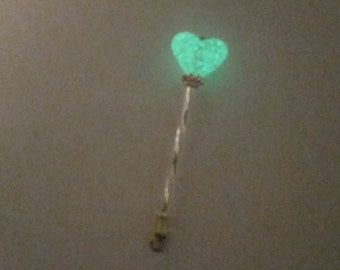 Tooth Fairy Wand - GLOW in the dark Heart