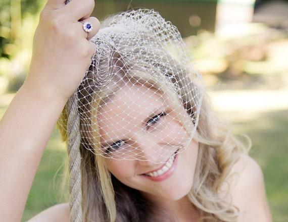 wedding veil bridal veil french netting 14 inches birdcage veil