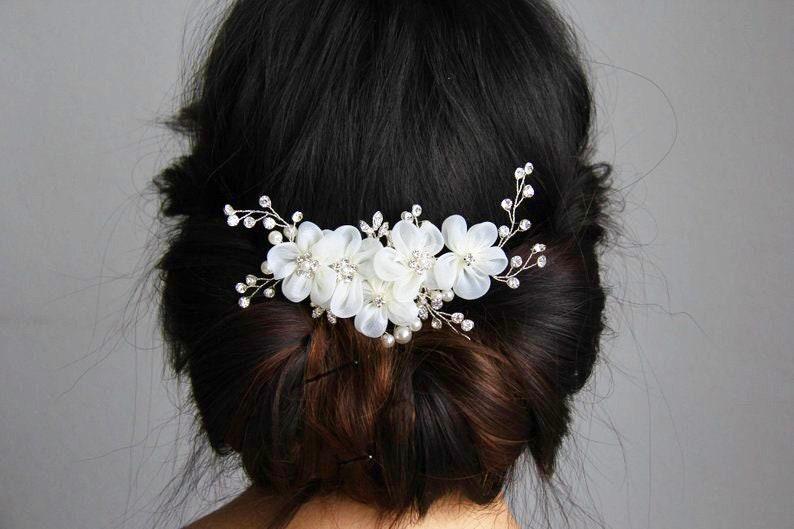 Bridal hair piece rhinestone hair piece flower hair comb rhinestone hair comb wedding hair piece wedding hair comb bridal hair comb