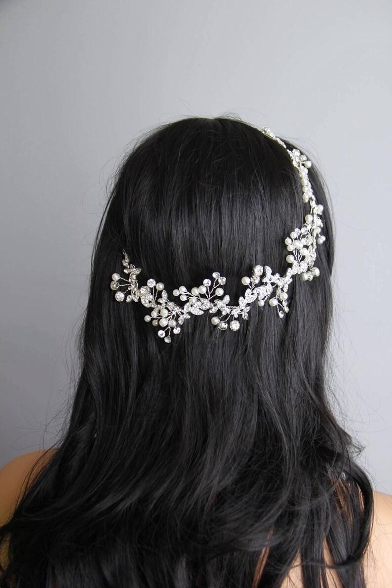 flower hair comb wedding hair comb rhinestone hair comb rhinestone hair piece bridal hair comb wedding hair piece Bridal hair piece