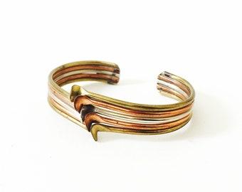Vintage Mixed Metals Cuff Bracelet