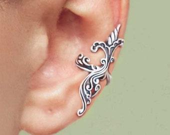 Scottish Thistle ear cuffs Sterling Silver earrings Thistle jewelry Thistle earrings Sterling silver Ear Cuff ear clip C-244240 AA