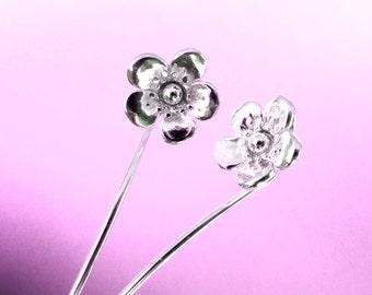 Buttercup bloem oorbellen sterling zilveren oorbellen sieraden dangle oorbellen schattige kleine Stud Earrings stud earrings lange stammen oorbellen unieke Threader E-134