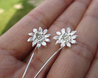 Passie bloem oorbellen sterling zilveren oorbellen sieraden dangle oorbellen schattige kleine Stud Earrings stud earrings lange stammen oorbellen unieke Threader E-122