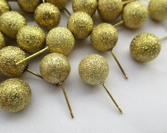 Brass Base Pins 3300C Brooch Pin 60x1mm 30 Pieces Raw Brass Nail Pin