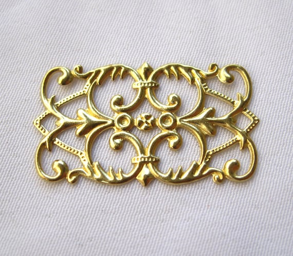 18pcs Stamping Brass Filigree Findings DIY Jewelry Making bf147