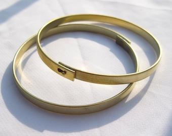 2pcs Raw Bangle Brass Bracelet DIY Craft Jewlery Design t069