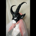 Leather mask of Krampus, Baphomet, Black Phillip goat