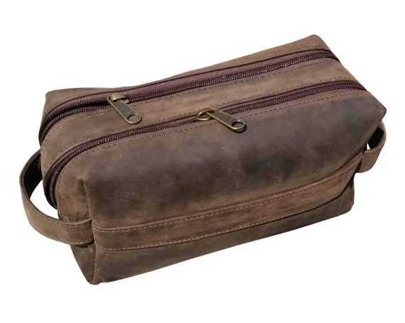 deee6a7aa6 Leather Toiletry Bag Leather Dopp Kit Men s Shaving