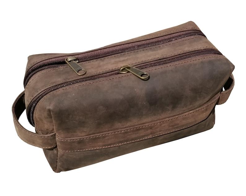9d7d3a78ab Leather Toiletry Bag Leather Dopp Kit Men s Shaving