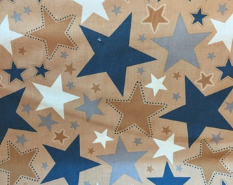 """Riley Blake """"Superstar"""" cotton fabric with stars"""