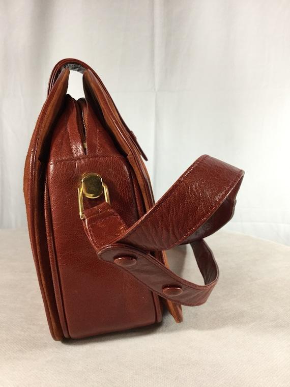 Vintage Bally Lady Diana Leather Suede handbag - image 8