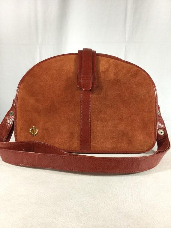 Vintage Bally Lady Diana Leather Suede handbag