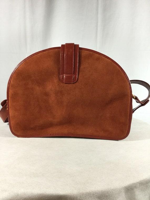 Vintage Bally Lady Diana Leather Suede handbag - image 2