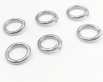 Jewelry Findings & Components 1*5mm Lot Of 1000pcs Strong 316l Stainless Steel Jump Ring Suit For Diy Necklace
