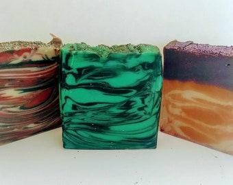 Halloween Soap, Green Apple Candy(Zombie Love) , Pumpkin Apple Butter(Jack O' Lantern) & Bite Me(Vampirina)Scented Handmade Soap