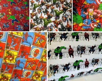 Marvel Heroes Pillowcase Spiderman, Thor, Hulk, Daredevil,Black Widow