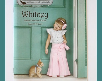 Violette Field Threads Pattern Whitney Size 2T-10 Years classic pleated skirt and tailored pleated trousers