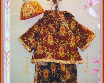 Tina Givens Baby Kimono Suit & Cap TG-K5029 3-18 Months