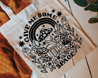 Tote Bag | Give Me Space | Hand Lettering Illustration