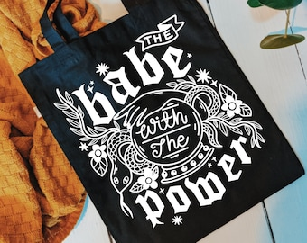 Tote Bag | The Babe With The Power | Hand Lettering Labyrinth