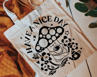Tote Bag | Have a Nice Day | Hand Lettering Illustration