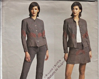 2003 Designer Separates Pattern  VOGUE 2734  Vogue American Designer ANNA SUI  Out of Print Pattern Uncut, Factory-Folded  Sizes 12-14-16