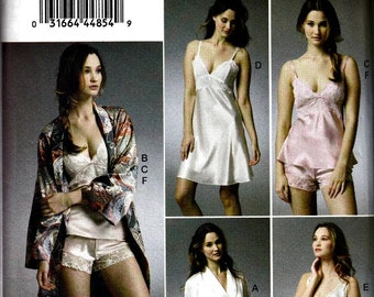 2013 Lingerie Separates Pattern  VOGUE 8888  Robe, Camisole, Slip and Panties Pattern  UNCUT, Factory-Folded  Multi-Sizes 6-8-10-12-14