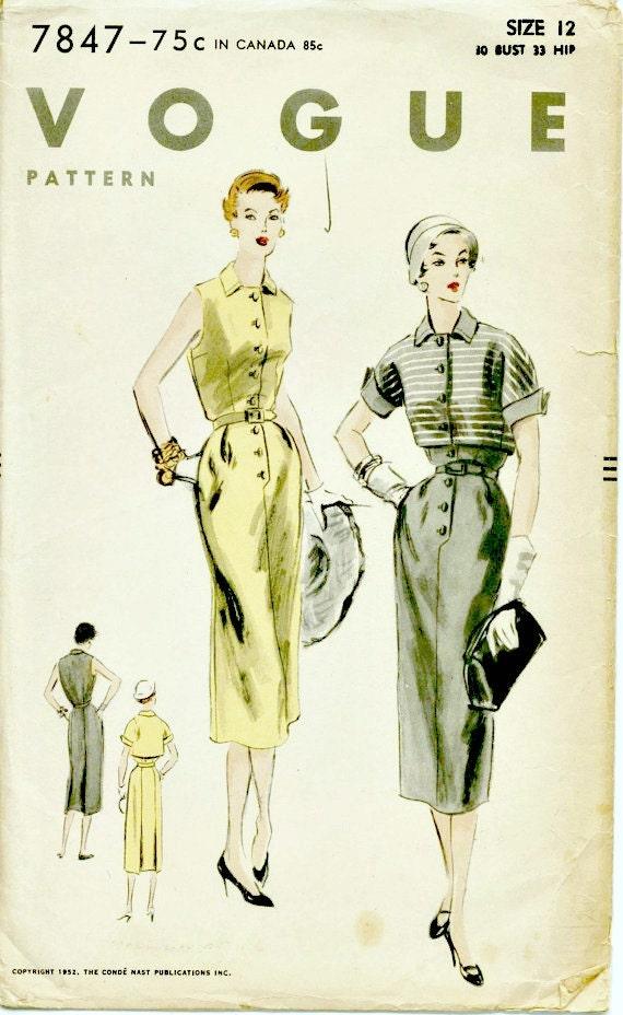 1950 S High Fashion Sheath Dress With Bolero Pattern Etsy