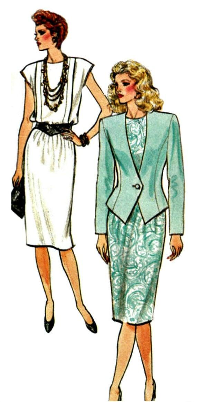 80er Jahre Sonntag Anzug Kleid Muster Butt 3682 1986 | Etsy