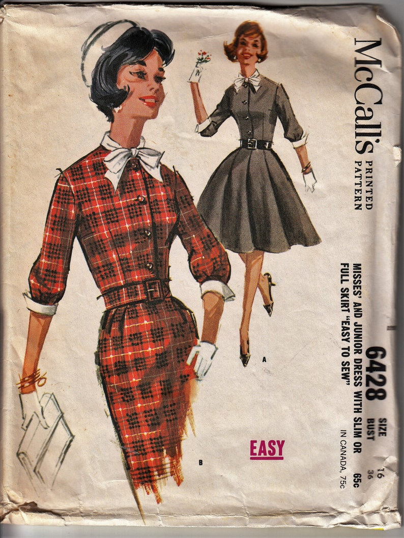 cca9a83d0c2 1960 s MAD MEN Dress McCall s 6428 Out of Print