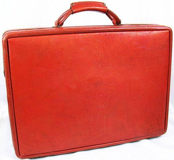 """1970's HARTMANN Belting TEXTURED Briefcase 4"""" Atta"""