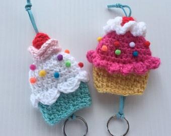 Cupcake Key Chain, Cupcake Key Keeper